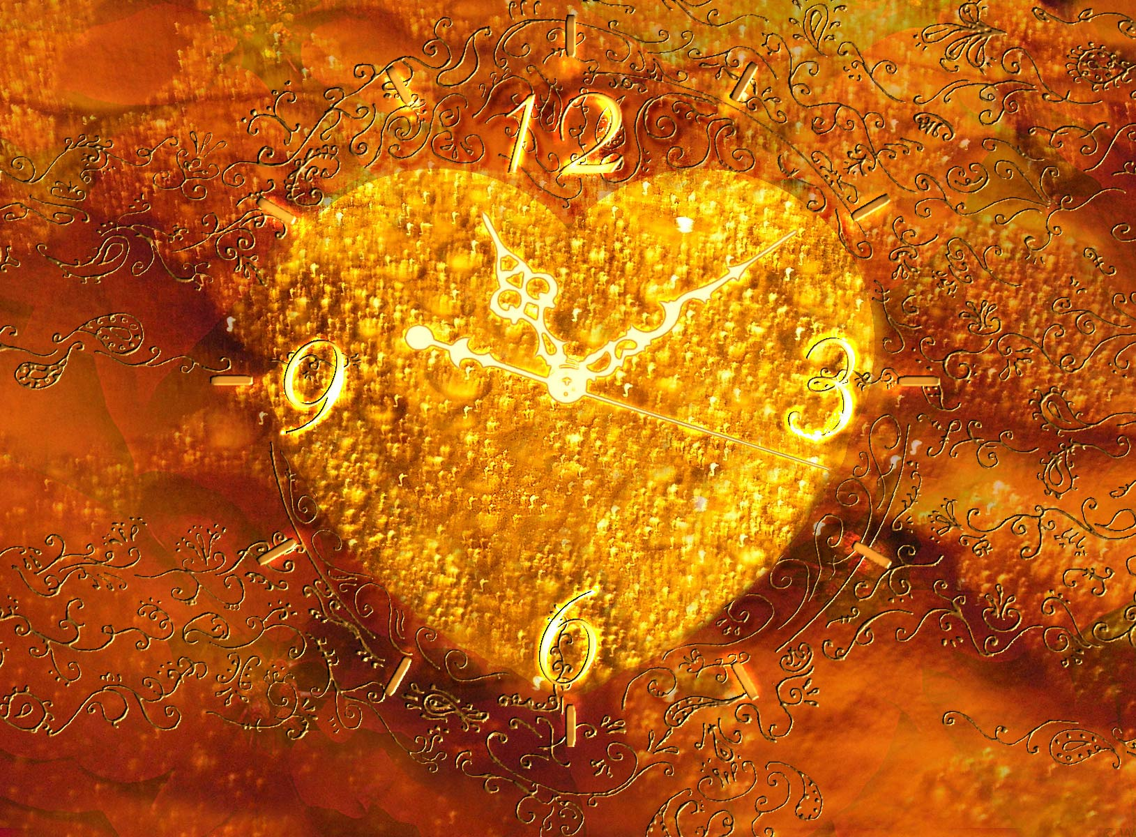 Valentine's Clock ScreenSaver